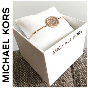 NWT authentic MK rosegold tone bracelet